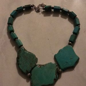 Turquoise carved necklaces